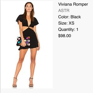 REVOLVE - Black romper